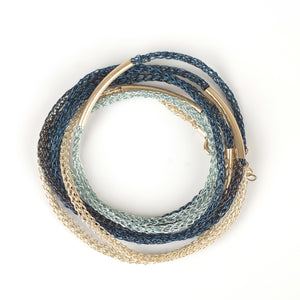 BLUE BOHO Wire crochet bracelet - Yooladesign
