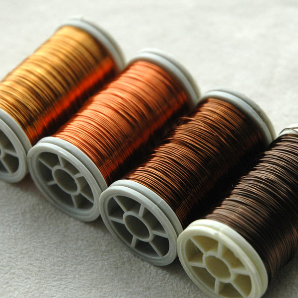 Color wire, artistic wire for wire crochet - Earth colors - Yooladesign
