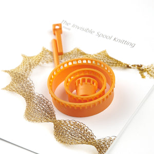 LIMITED EDITION - Wire crochet looms set, ISK invisible spool knitting starter set , Wire work loom - Yooladesign