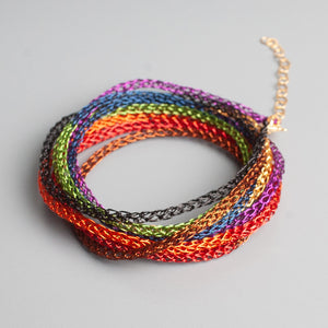 rainbow layered bracelet - yooladesign