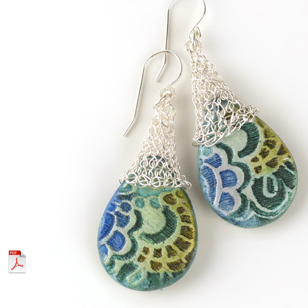 Crocheted drop earrings - from PCA 2017 - Yooladesign
