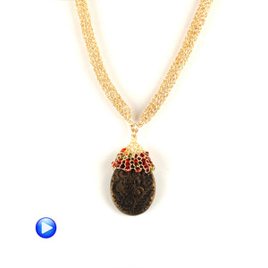 Crocheted drop pendant for a Polymer Clay bead - from PCA 2017 - Yooladesign