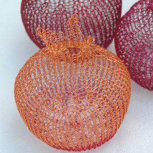 Home Deco Pomegranates (S), Handmade Wire Crochet Home Accents - Yooladesign