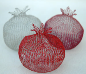 Home Deco Pomegranates (L), Handmade Wire Crochet Home Accents - Yooladesign