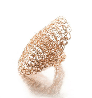 Full finger ring in rose gold filled - Yooladesign