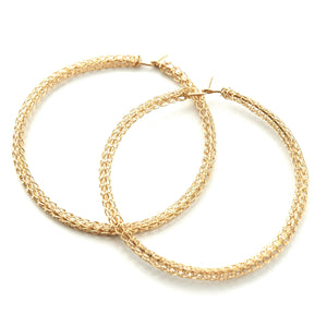 Extra Large GOLD hoop earrings ,contemporary jumbo hoops - Yooladesign