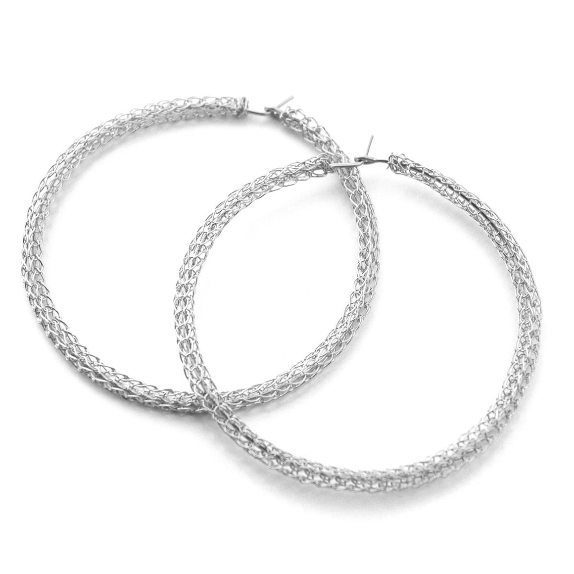 Extra Large silver hoop earrings ,contemporary jumbo hoops - Yooladesign
