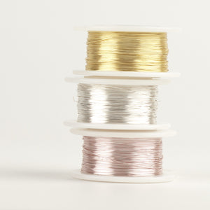 Craft Wire - Gold , silver and rose gold - 3 Extra long spools - 120 feet each - Yooladesign