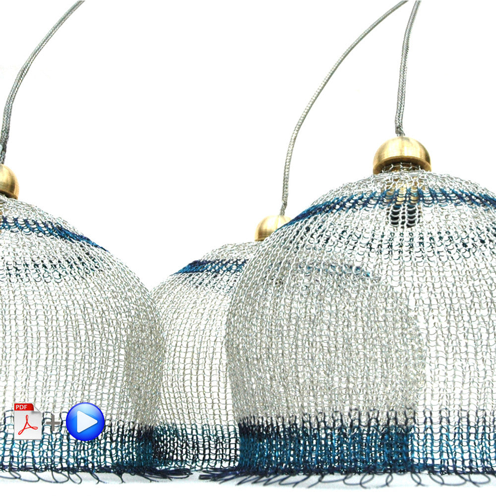 Wire crochet Yoola's lampshades , video tutorial - Yooladesign
