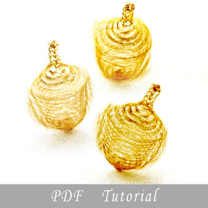 Wire Crocheted Dreidel DIY , a PDF tutorial - Yooladesign