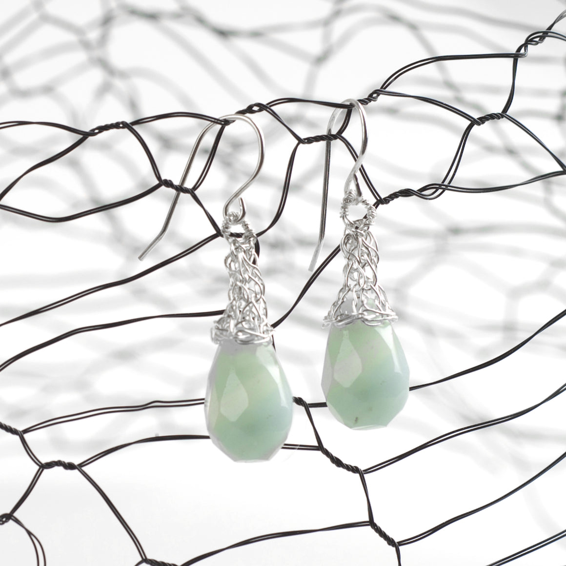 Amazonite mint Earrings - Yooladesign