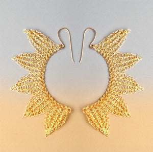 angel wings earrings - wire crochet Yooladesign