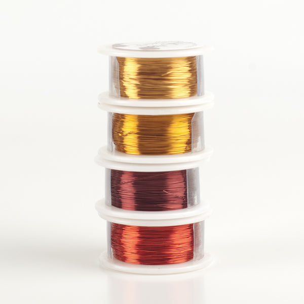 Craft Wire -  Autumn 2016 colors - Extra long 4 spools - 120 feet each - Yooladesign