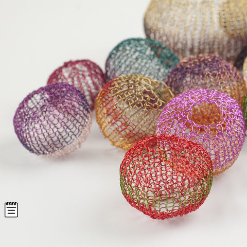 Round Ball Beads - Recipe crochet pattern - Yooladesign