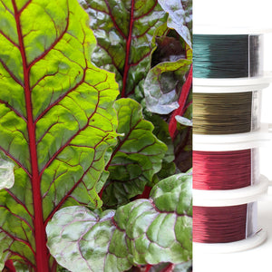 Jewelry making wire - Garden inspiration - beet leaves - 4 spools - yooladesign