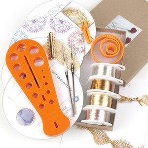 Wire crochet beginners kit 2 , video tutorials , supply and tools - Yooladesign