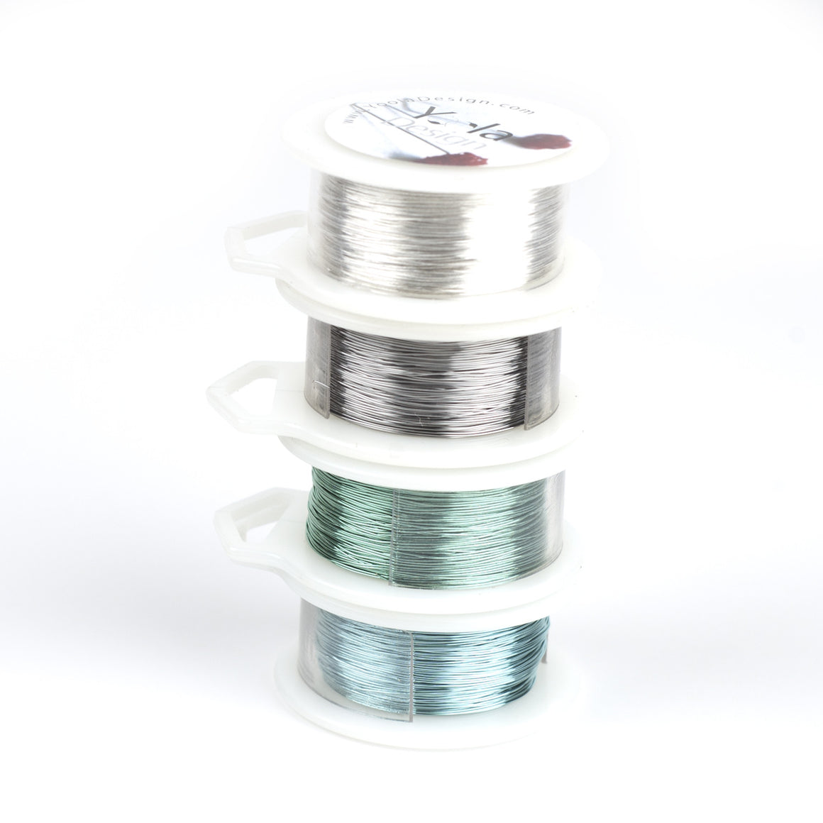Craft Wire - BLUES - Extra long 4 spools - 120 feet each - Yooladesign