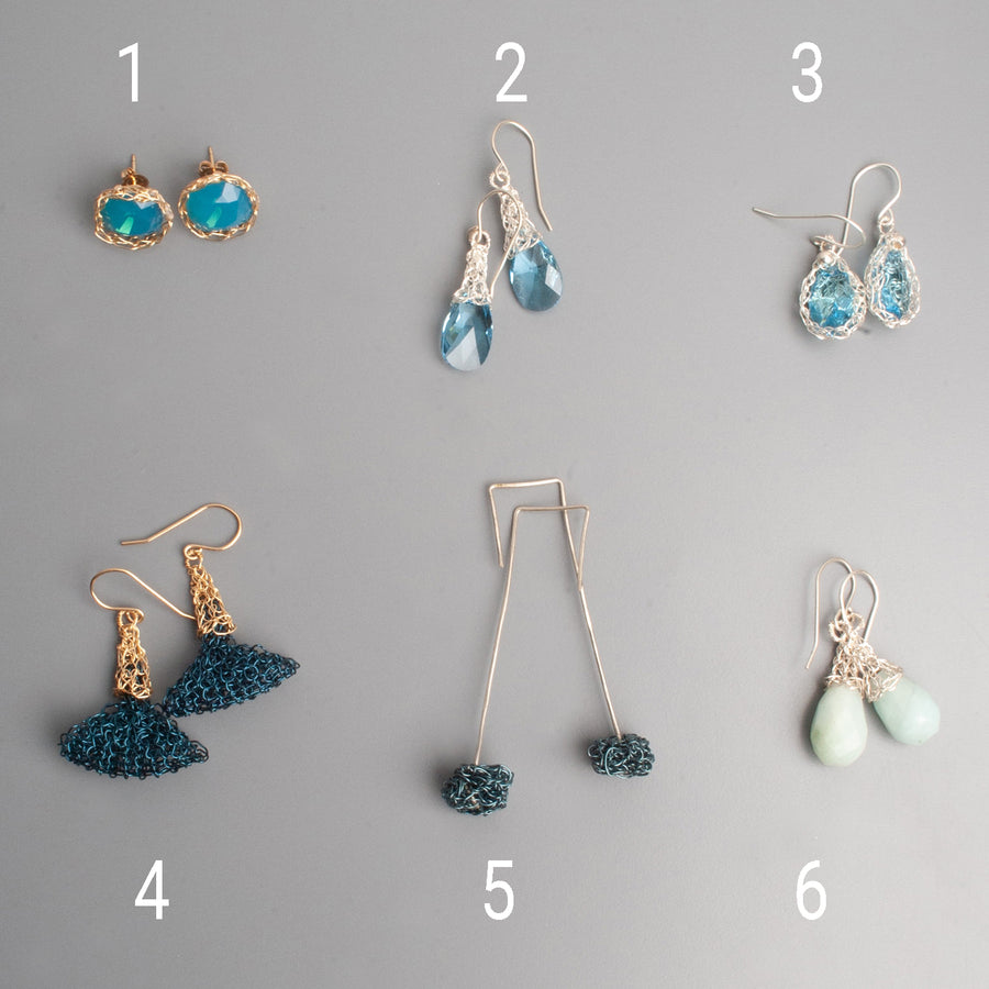 BLUE Earrings - Sample sale - Yooladesign