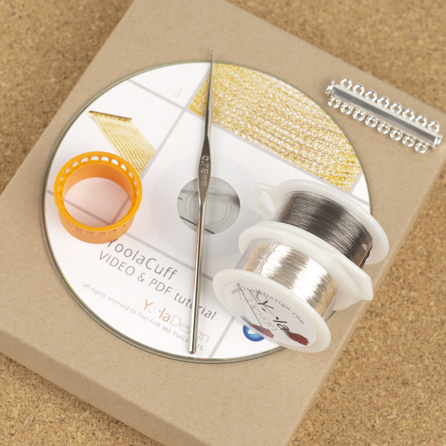 DIY Silver Cuff  Jewelry Kit , tutorial, tools , supply - Yooladesign