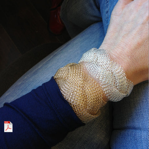 crochet pattern for a braided Bracelet