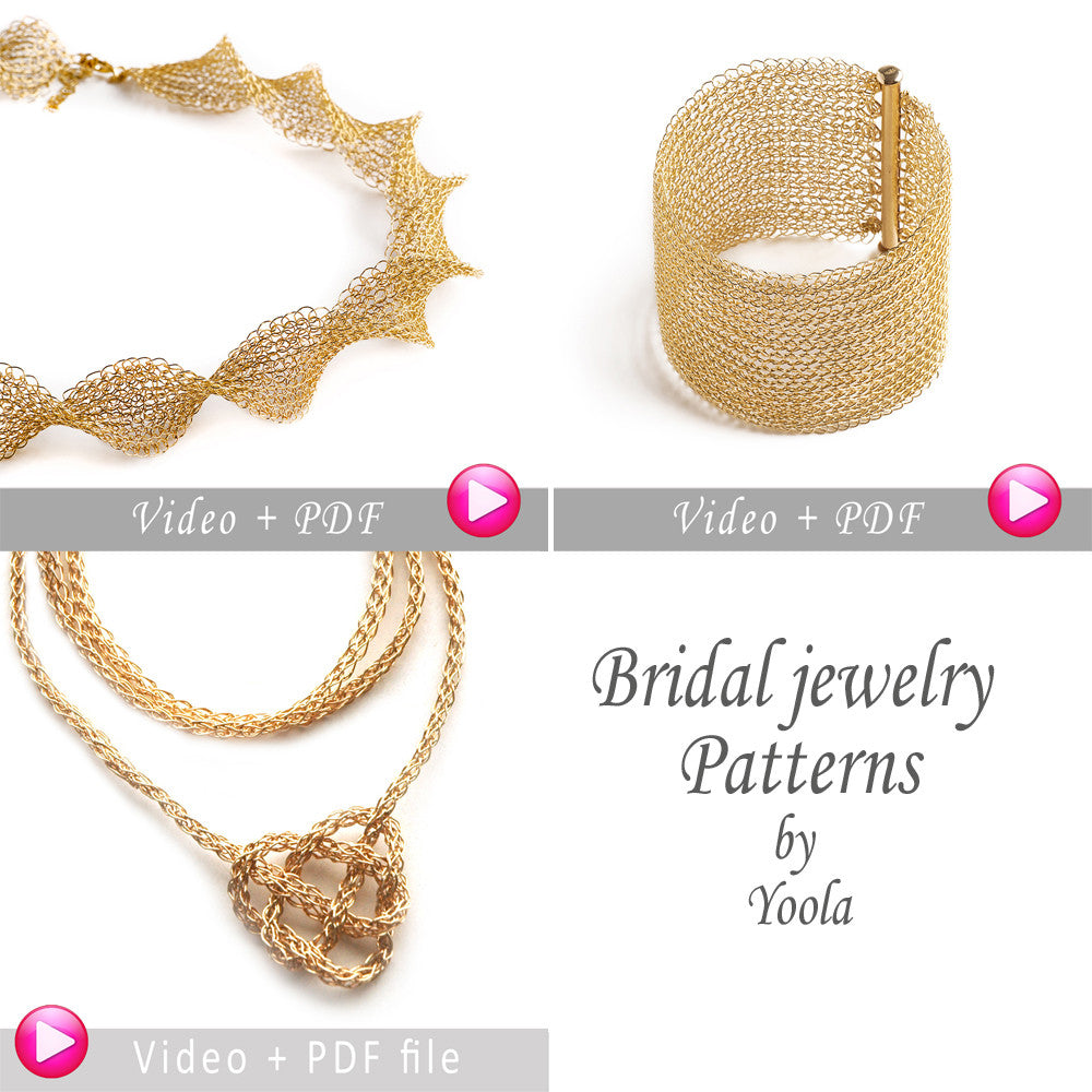 Bridal DIY Tutorial Combo, Pay for 2 Get 3, Video and PDF tutorials, DIY Crochet Pattern, Instructions - Yooladesign