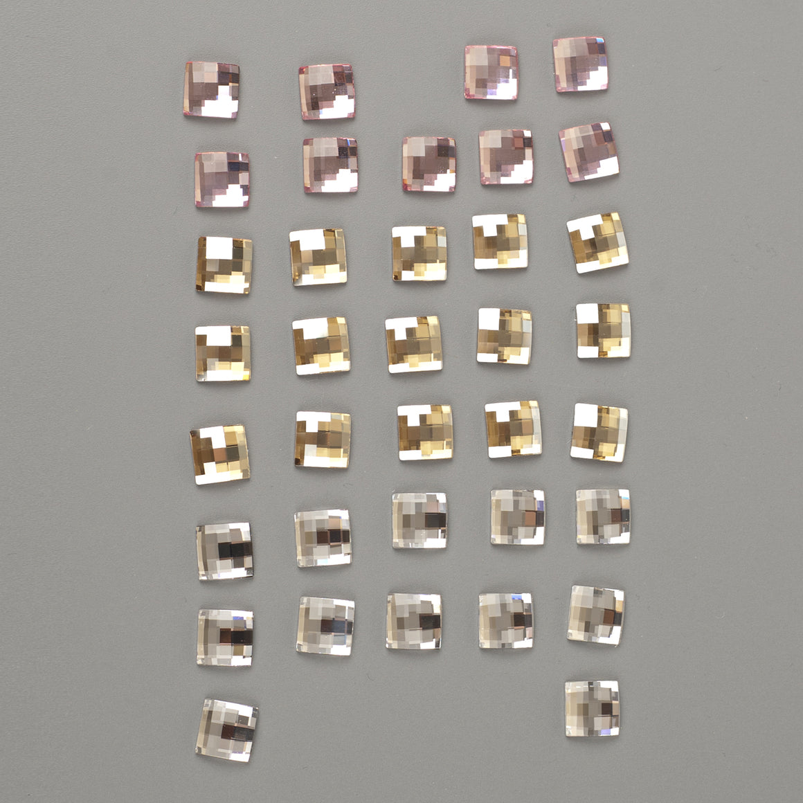 SOLD -Swarovski crystals 10mm chessboard flat back lot clearance - Yooladesign
