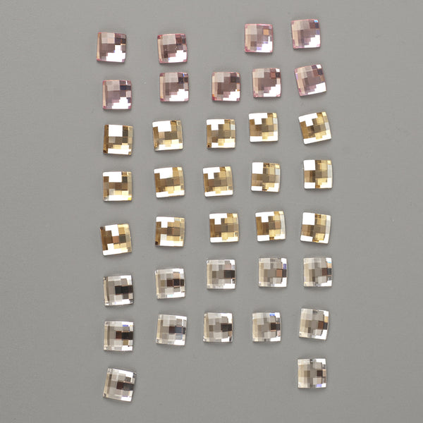 SOLD -Swarovski crystals 10mm chessboard flat back lot clearance