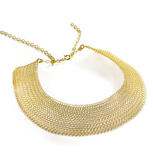 Cleopatra gold necklace , collar statement necklace - Yooladesign