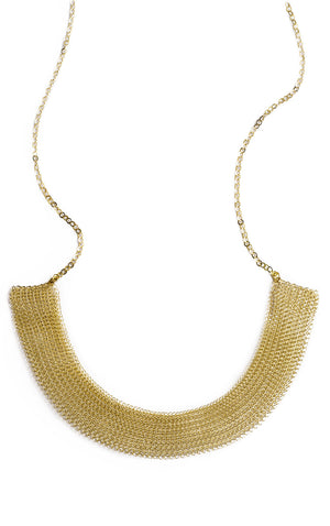 Collar statement necklace in gold - Yooladesign