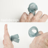 LOOP ring - Statement ring Wire crochet art jewelry - Yooladesign