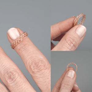 Thin rose gold ring - Yooladesign