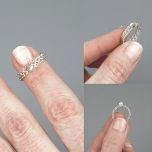 Silver ring with a pearl - Yooladesign