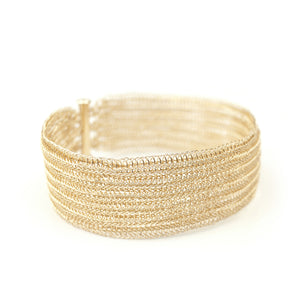 Double knit gold filled cuff bracelet - Yooladesign