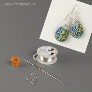TearDrop earrings materilas kit for PCA 2017 members - Yooladesign