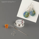 TearDrop earrings materilas kit - Yooladesign