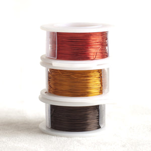 Color wire, artistic wire for wire crochet - EARTH - Yooladesign