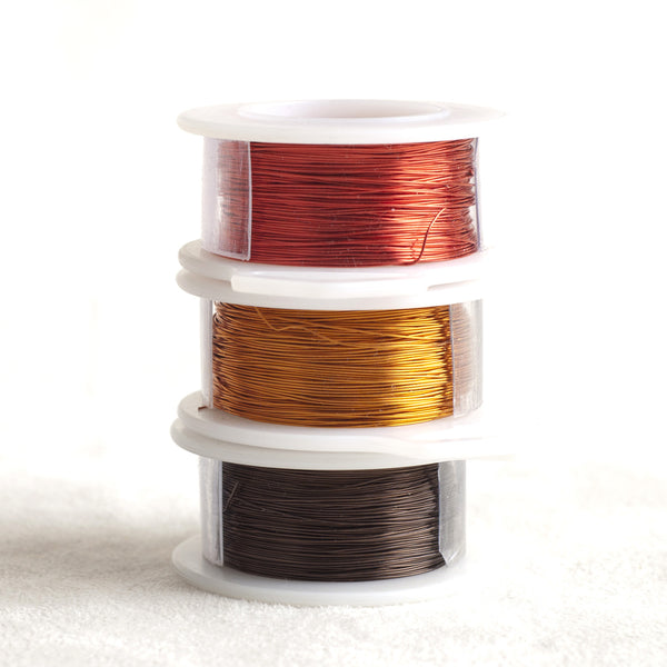 Color wire, artistic wire for wire crochet - Earth colors