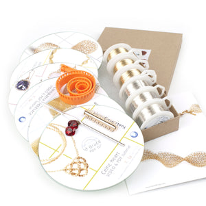 Wire crochet kit  - EXTENDED DIY kit Vol 2, Video tutorials PDF patterns , supply and tools - Yooladesign