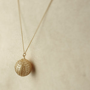 Pearl Pendant Gold Wire Crochet Necklace - Yooladesign
