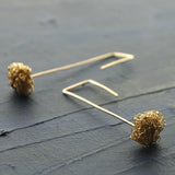 Wire Crochet Earrings - Gold Earrings - Modern Jewelry - Geometric Earrings - Urban Fashion - Yooladesign