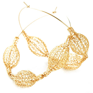Giant GOLD hoop earrings Unique Fashion - Yooladesign