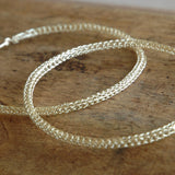 Giant Silver Hoop Earrings , Silver Wire Crochet Jewelry , Fashion Jewelry , Unique Design (Copy) - Yooladesign