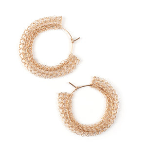 Gypsy hoop earrings, gold medium hoops - Yooladesign