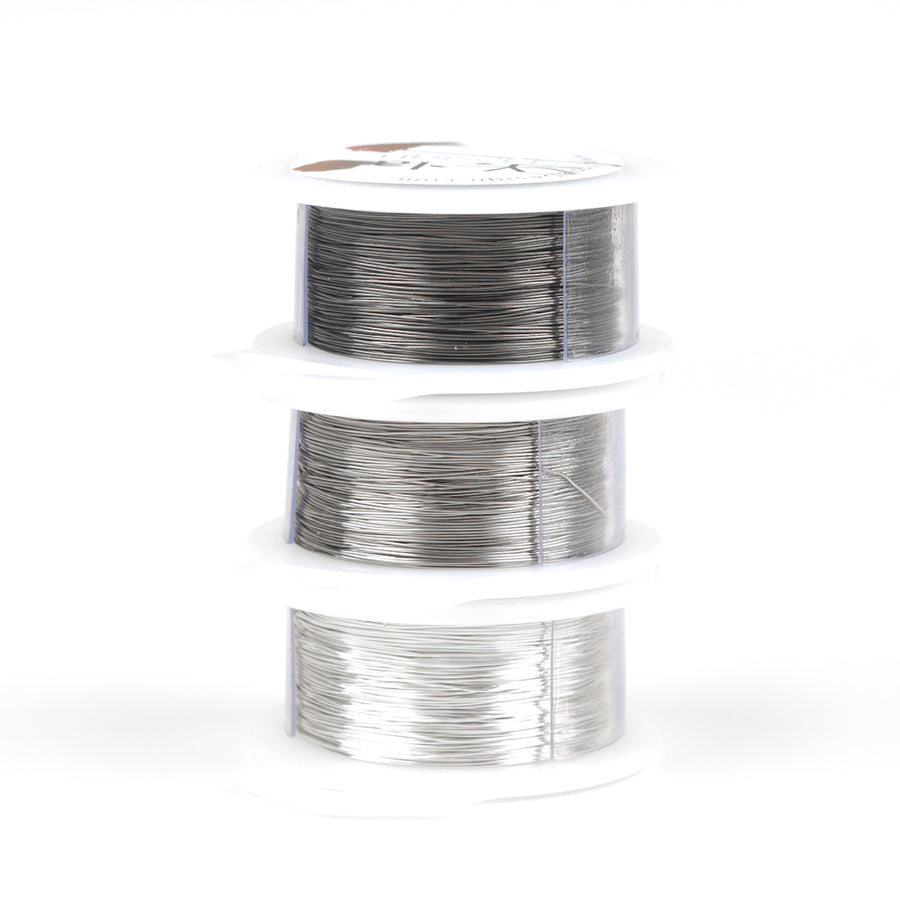 Gray Craft Wires - Silver, Steel gray and Ash gray - 120 feet each - Yooladesign