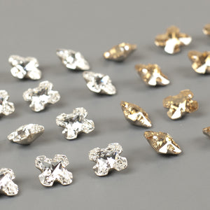 Swarovski crystals Greek cross lot clearance - Yooladesign