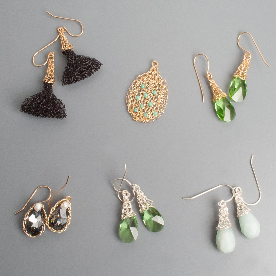 Green Earrings - Sample sale - yooladesign
