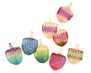 Multicolor Wire Crochet Dreidel , Unique Handmade Judaica - Yooladesign