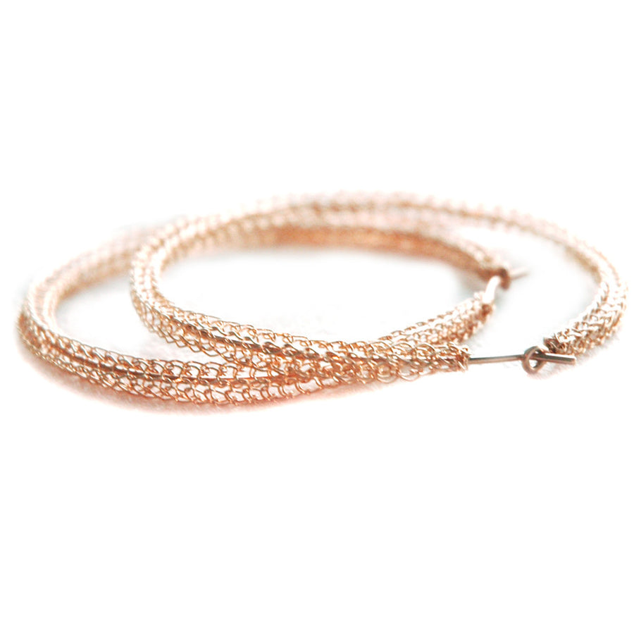Extra Large ROSE GOLD hoop earrings ,contemporary jumbo hoops - Yooladesign