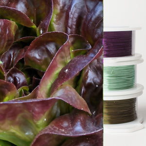 Jewelry making wire - Garden inspiration - red lettuce - 3 spools - YoolaDesign