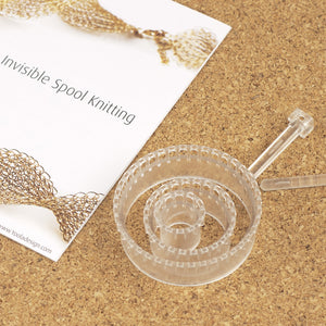 LIMITED EDITION - transparent acrylic knitters , Invisible spool knitting looms - Yooladesign